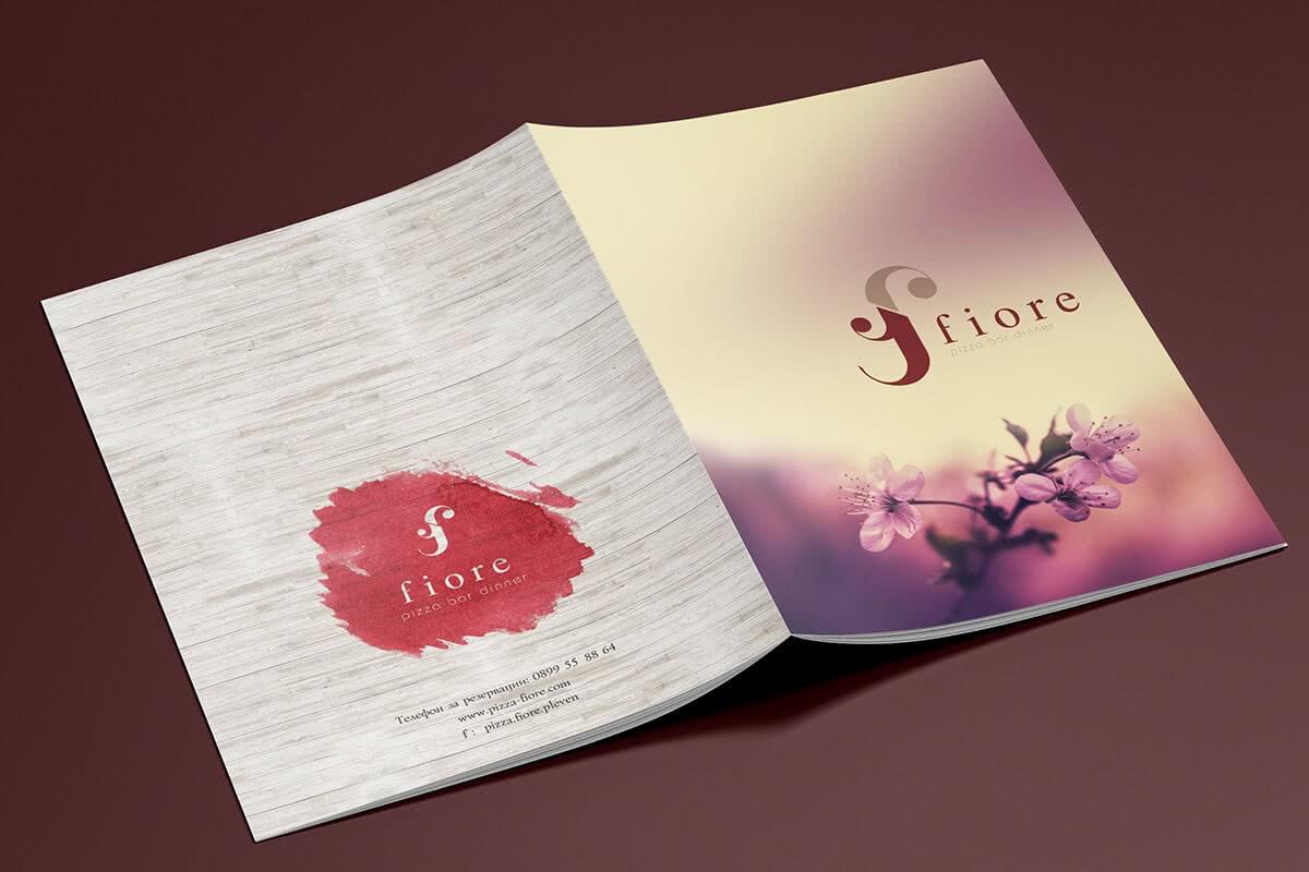 дизайн и печат на меню за ресторант Плевен
